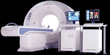 CT scanner black background